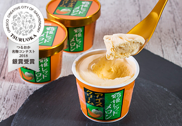 鶴姫レッドメロンアイスクリーム(鶴岡市農業協同組合)